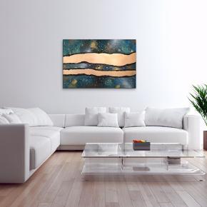 """""""Wavey Space"""" Maleri med målene 120x80x4 cm. Malet med akryl og spray 🎨 Pris er uden forsendelse Tager også imod bestillinger efter egne farve- og størrelsesønsker 🍭🙏🏽 ROAR"""