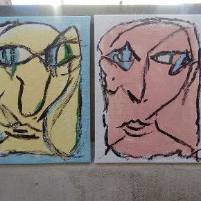 Køb 1 maleri 300 kr Køb 2 malerier 450 kr 30 x 40 cm