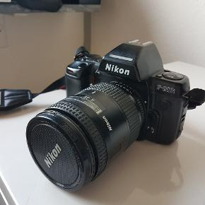 Nikon F-801 kamera fra 80'erne med objektivet AF NIKKOR 28-85mm f/3.5-4.5Byd.