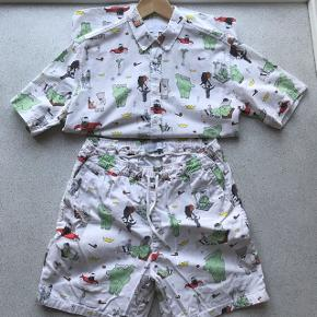 Limited Soulland x Babar sæt. Skjorte + shorts i medium.