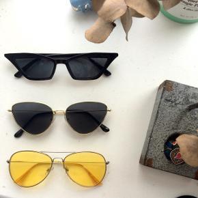 Nye retro solbriller sælges - aldrig brugt, kun prøvet på! Prisen er 100 kroner stykket. Kan sendes hvis køber betaler for fragt.