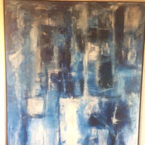 Flot maleri, 120 x 150 cm- Rasmus Wetter. Bud modtages!
