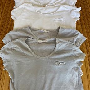 5 stk. ZARA HOME casual T shirt (2 grå og 3 hvide) sælges samlet til kr. 200,- pæn stand uden fejl, pletter eller lign. Størrelse medium/large.