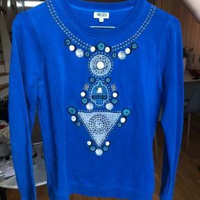 Smuk mørkeblå KENZO sweater. Næsten ikke brugt