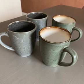 4 flotte kaffekrus fra Christian Bitz sælges samlet. Afhentning i KBH SV.   🔹 Mine priser er så lave og fair, at jeg ikke forhandler om prisen på en enkeltvare. 🔹 Køber du flere annoncer, så finder vi selvfølgelig en god samlet pris.