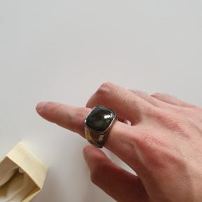 Labaorodite ædelstens ring 925 sterlingsølv ring Custom lavet ring Ca. 59mm omkreds  Boks medfølger