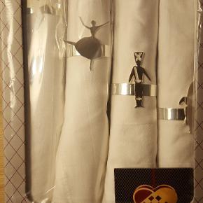 4 serviet ringe i æske med motiver fra HC Andersen....skønne på bordet...har 3 æsker...servietterne er vasket på nær de 2 servietter.....der er 12 ialt Prisen.på annoncen er for 1 æske...finder god pris ved 3 æsker