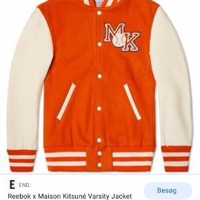 Unisex Reebok Classic x Maison Kitsuné bomber jakke/baseball jacket i bright orange  Aldrig brugt/perfekt stand   Nypris: 1900,-   #30dayssellout