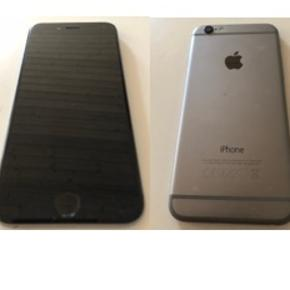 IPhone 6 i sølv/ sort, 16 GB incl. Strømforsyning. Ingen fejl eller skader. Har været brugt som firmatelefon, derfor ingen kvittering.
