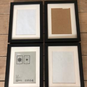 4x IKEA Ribba rammer i 18x24 cm