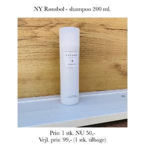 NY Rønsbøl - shampoo 200 ml.   Pris: 1 stk. NU 50,-  Vejl. pris: 99,- (1 stk. tilbage)   Se også over 200 andre nye produkter, som jeg har til salg herinde :-)
