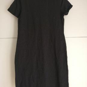 Sort basic tunika/kjole i bomuld