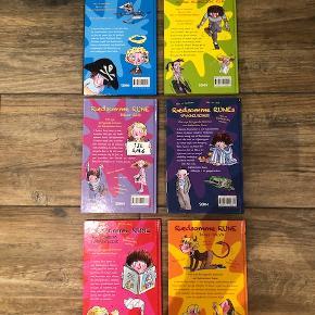 Sælger denne fine børnebogsserie om Rædsomme Rune. Bøgerne er hardback og sælges samlet. Bøgerne er fuldstændig som nye. Det er nr. 1, 2, 5, 6, 7 & 8 i serien. Se billederne. Det er en rigtig sjov serie for de 6-10 årige. Lix-tal er 19. Fra røgfrit hjem. Sender med DAO for købers regning.