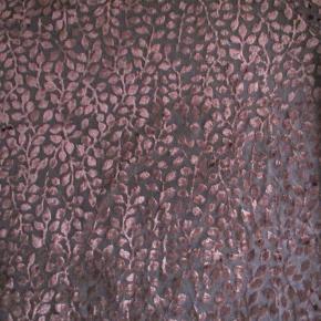 """Sød kortærmet bluse.Den er med et bladmønster, der gør den lidt """"pudderagtig"""" Farven er en rigtig varm mørk brun.  Se også mine over 100 andre annoncer med bla. dame-herre-børne og fodtøj."""