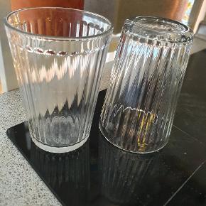 6 stk Ikea glas  12 cm høje