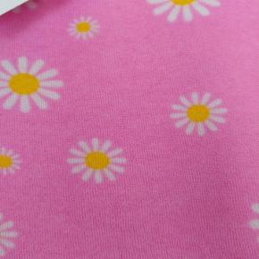 Jambymaj Ny retro kjole syet i lækker blomstret stræk frotté 3/4 ærmer Str. 46/48 Brystmål 112 cm Hoftemål 126 cm Længde 108 cm