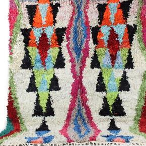 Unika  Håndlavet boucherouite tæppe. Måler 210x140 cm Salgspris 3650kr