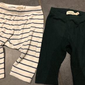 Grønne leggings Stribede leggings  Str. 62