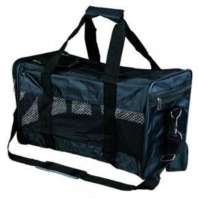 Transporttaske Ryan til hunde eller katte op til 9 kg.Tasken har god luftcirkulation og er udstyret med separat lomme til tilbehør og en justerbar skulderrem.  Mål: 26 x 27 x 47 cm  Taskens vægt: 1240 g  Aldrig brugt