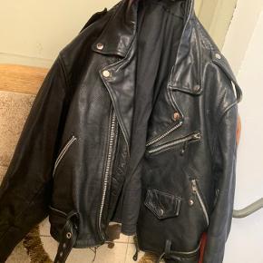 Biker jakke fra 80-erne