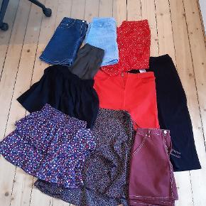 10 nederdele fra flere forskellige mærker sælges. Str 38/40/M Fra bl.a. PIECES, Vero Moda, Only, H&M, Boohoo og Moves Sælges helst samlet til en fordelagtig pris.  Jeg tager imod bud. Jeg ser helst at de afhentes på min adresse i Aalborg - men jeg også sende.