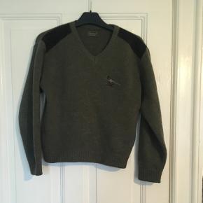 Fin grøn sweater i 50 % uld. Jagtmærket Seeland