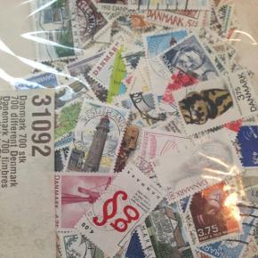700 stk danske frimærker