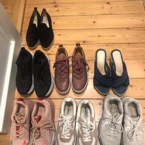 Sælger alle sko mellem 100-250 kr. Rabat ved at købe flere  Str 36 og 37  Byd, mærker som bianco, samsøe samsøe m.m