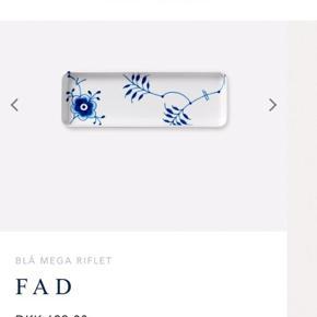 Sælger det her blå mega riflet fad fra Royal Copenhagen. Brugt minimalt og har ingen tydelige brugsspor. 36 cm. Kan hentes efter aftale på Østerbro