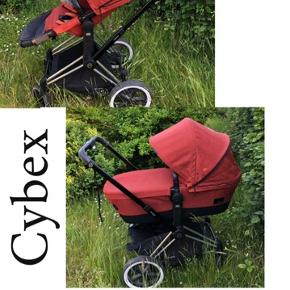 Cybex Priam brand  Transformer style.  For this price you will have:  - wheels  - car seat (possible to make a bed)  - pram  - stroller (3 different levels for babies back and you can turn in 2 different sides)  - rain cover - mosquito cover  Lux quality. Everything in the very good condition.  Please contact me, if you interested.
