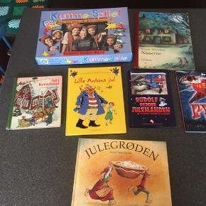 6 stk. julebøger og et Krumme julespil ( der mangler timeglasset)  Sælges kun samlet