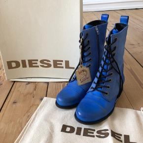Aldrig brugte støvlet fra Diesel. Fit 37.  Byttes ikke.
