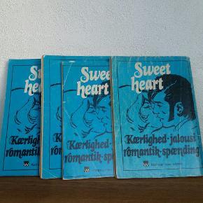 Sweetheart. Gamle kærligheds tegneserier fra 70erne og 80erne.  Kr 10 pr stk