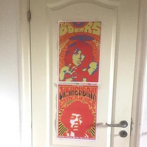 Plakater af hhv. James Morrison Jimi Hendrix gives bort til den som kan bruge dem.