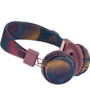 Urban Ears Plattan høretelefoner med mikrofon. Mulighed for at koble endnu et sæt høretelefoner til så man kan sidde to personer om én skærm.