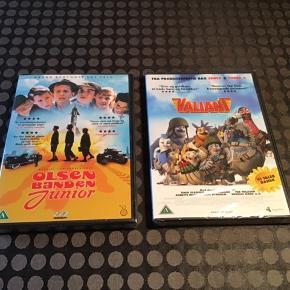 7 DVD'er til børn  3 stk Astrid Lindgren:  Brødrene Løvehjerte  Ronja Røverdatter - ER SOLGT Pippi på de 7 have (uåbnet) Pippi stikker af (uåbnet)  Olsen-banden junior (uåbnet) Valiant (uåbnet) Nøddebo Præstegård (uåbnet) Far til 4 - julebal i nisseland - ER SOLGT