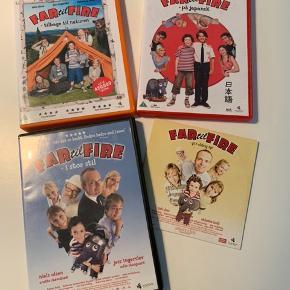 Dvd film mange timers god underholdning, Olsen Banden, Far til fire, Min søsters børn 10,- pr Dvd