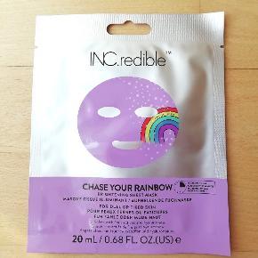 Mærke: Inc.redible Incredible Inc. Redible Ansigtsmaske Brightening sheet face mask Chase your rainbow Kan sendes med Post Nord for 10 kr.