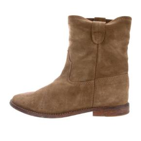 De super populære Jenny boots fra Isabel Marant i beige / brun ruskind inkl original æske!  Str 39!   Det er modellen uden kilehæl!   Nypris 3900kr - brugt få gange!