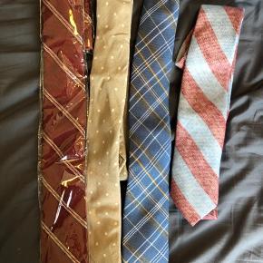 Nye slips, et enkelt brugt. Mange fine mærker, Byd, skriv pb for mere info. Pris pr stk
