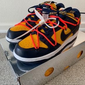 Nike Dunk Michigan x Off White  Str 42 - fitter en helt normal 42  100% ubrugte med tags på