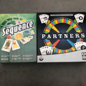 2 helt nye spil Sequence er stadig i folie - 100 kr Partners - 100 kr