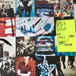 U2 Achtung baby vinyl lp plade med mange hits Superfin stand