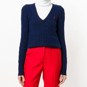 Polo Ralph Lauren v-neck cable knit jumper Str L  Nypris 1199kr