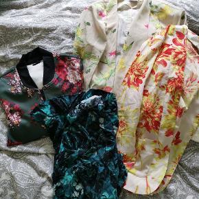 3 kimonoer i str m, l En trøje str s
