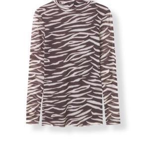 Super fin rullekrave i zebra Strib
