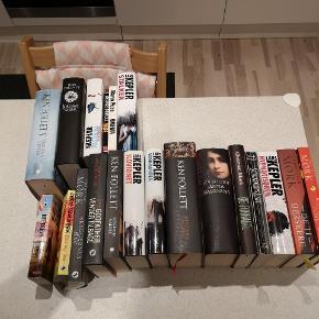 Forskellige gode bøger sælges bl. a. Follet og Christian Mørk. 10,- kr. stk. eller 150,- kr. for dem alle.