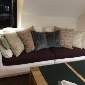 IKEA Stockholm sofa + puf i hvid - god men brugt