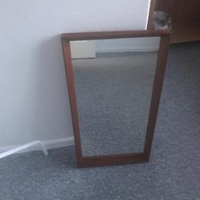 Teak spejl, 37x70 cm