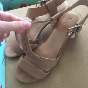 Both the bottom of the heels have dirt and the sole is a bit dirty as well, otherwise that's pretty much it